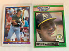1991 BOWMAN & Starting Lineup Card ⚾ JOSE CANSECO #372, Oakland A's  -  NM/MT