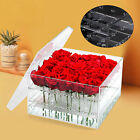 Clear Acrylic Forever Rose Flower Box Romantic Flower Fresh keeping Case Gift US