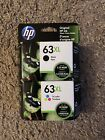 HP 63XL Black  Tri Color Ink Cartridge All Expire In 2023