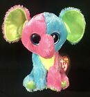 """Ty Beanie Boos ELFIE 6"""" Elephant Sparkle Eye 2014 Justice Exclusive Retired NEW"""