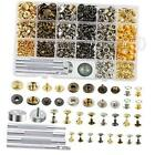 400 Set 4 Style Snap Fasteners Kit Including Leather Rivets Eyelets