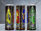 4 Harry Potter Houses on a 20 oz Stainless Steel Insulated Tumbler Stained Glass