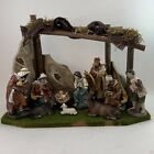 Kurt Adler 10 Nativity Set With Stable And 10 Figures