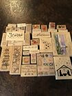 Over 100 Rubber Stamps Lot Arts And Crafts