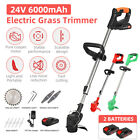 Electric Weed Eater Lawn Edger Cordless Grass String Trimmer Cutter 24V Battery