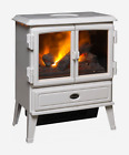DIMPLEX Auberry Optimyst Electric Stove 2KW HEATING FIRE REMOTE LOG EFFECT WHITE