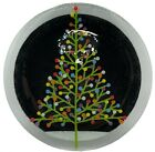 Peggy Karr Fused Art Glass Christmas Tree Round Serving Plate