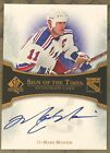 2007 08 UD SP AUTHENTIC MARK MESSIER SIGN OF THE TIMES ON CARD AUTO AUTOGRAPH