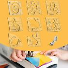 8 Pieces Free Motion Quilting Templates and Low Shank Ruler Foot Machine Ruler