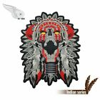 1pc Native Horned Chief Patches Death Skull Biker Patch Fashion Motorcycle Appli