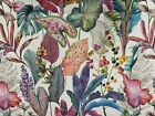 Passion Palms Tropical Printed Linen 280cm Wide Curtain upholstery Fabric