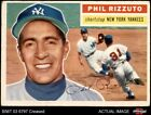 1956 Topps #113 Phil Rizzuto White Back Yankees 3 - VG