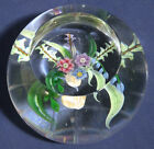 Caithness Scotland Glass Paperweight Whitefriars Hanging Basket 235 250 Stunning