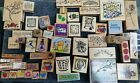 Wooden Craft Stamps lot of 80 wooden ink stamps CHRISTMAS birthday  flower