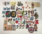 Vintage Lot Of Mixed Emboidered Sew On Patches