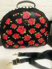 Betsey Johnson Large Weekender travel Bag with Flower polka Dots and Stripes