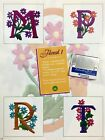 Floral 1 Alphabet Embroidery Designs Card for Husqvarna Viking Machines