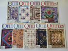 9 Issues Quilters Newsletter Magazine 1998