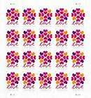 100 Hearts Blossom Love stamps 5 Sheets Of 20 Postage