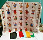 Vintage Fabric Baby Quilt Panel Teddy Bear ABCs When I Grow Up I Want to Be