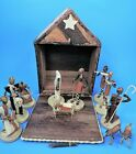 hand crafted AFRICAN CHRISTMAS NATIVITY SET unique