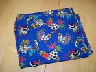 New Fabri Quilt Sunny Side Up Blue Roosters Fabric 100 Cotton 2 Yards Quilting