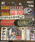 LOT OF 165 VINTAGE TO MODERN NFL  NCAA FOOTBALL TEAM LOGO PATCHES