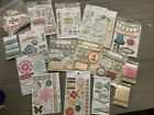 Huge Lot Scrapbooking Chipboard Layered Stickers Floss Miss Caroline MME Indie