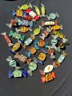 32 VINTAGE MURANO ITALY HAND BLOWN GLASS CANDIES CANDY