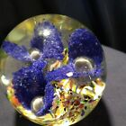 Vintage Art Glass Paperweight lot of 4 Murano Style Small Green  Blue Mint Cond