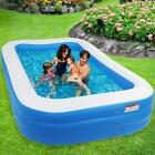 120 x 72 x 22 NEW Inflatable Swimming Pool Kids Children 04mm Wall Thickness