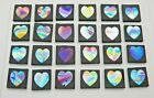 HEARTS SET OF 24 pcs ETCHED DICHROIC GLASS EC1 CBS COE 90 FUSING SUPPLY