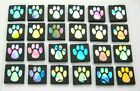 PAW PRINT SET OF 24 pcs ETCHED DICHROIC GLASS EC8 CBS COE 90 FUSING SUPPLY