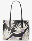 Kate Spade molly falling flower small tote  Pouch Daisy Black Shoulder bag NWT