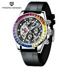 Pagani Design Stainless Steel Glass Skeleton Automatic PD1653 Mechanical Watch