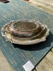 Sheridan Silver plated 2 piece Covered Serving Dish with Handles Glass Insert