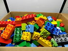 Lego Duplo Bricks  Blocks Only Lot of 100 Pieces Various Colors  Sizes