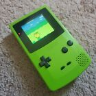 Original Gameboy Color Kiwi Green With IPS Screen and Glass Lens Upgrades