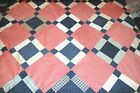 Early Cotton Antique Quilt Top Hand Pieced Patchwork