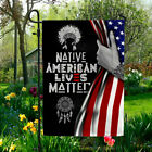 Native American Lives Matter Hand Pulling Flag OutDoor Double Sided Yard Garden