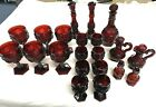Vintage Avon 1876 Cape Cod Collection 22 Pieces Ruby Red
