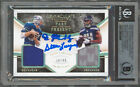 DK Metcalf Steve Largent Signed 2020 Immaculate #14 30 49 Card Auto 10 BAS Slab