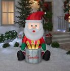 Gemmy Animated Christmas Airblown Inflatable Chef Santa w Pop Up Tamales 55 ft