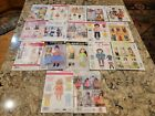 Lot 17 18 Doll Clothes Sewing Patterns Simplicity  McCalls uncut