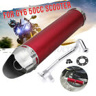 Motorcycle Racing Exhaust Muffler Pipe Gasket For 4 Stroke Scooter GY6 50cc Red