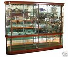 Antique French Mahogany & Glass Display Cabinet #395